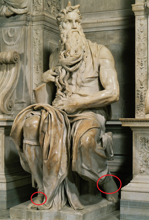 Michelangelo's Moses Hooves